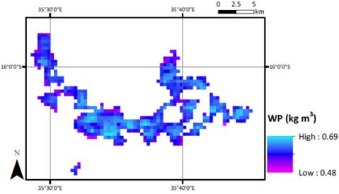 Figure 4 – Mulanje tea estates estimated water productivity baseline 2002-2012.