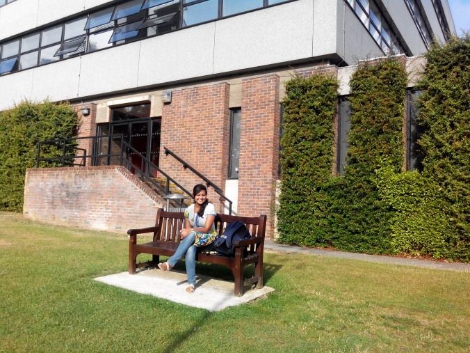 It was pleasantly warm when I visited the UK which made a nice break from the stifling humidity of Assam where it's currently monsoon season. Outside the Geography building, University of Southampton.