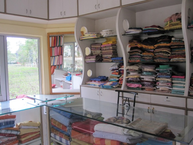 Alternative livelihood generating activities - handloom shop