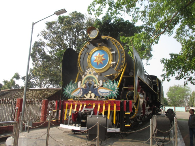 An old locomotive on display